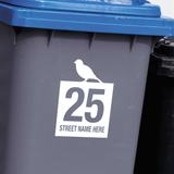 Wheelie Bin Decals - Bird Design