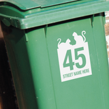 Wheelie Bin Decals - Cat Design