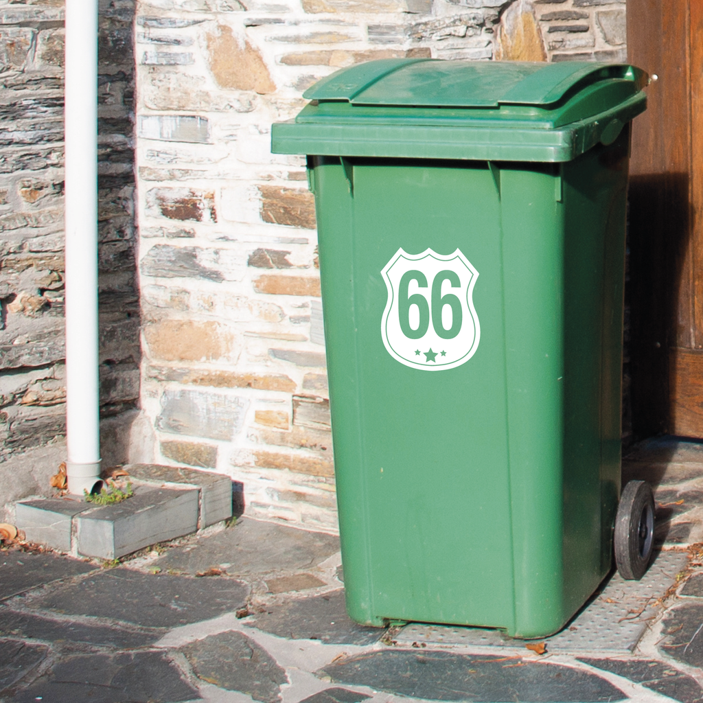 Wheelie Bin Decals - Route 66 design