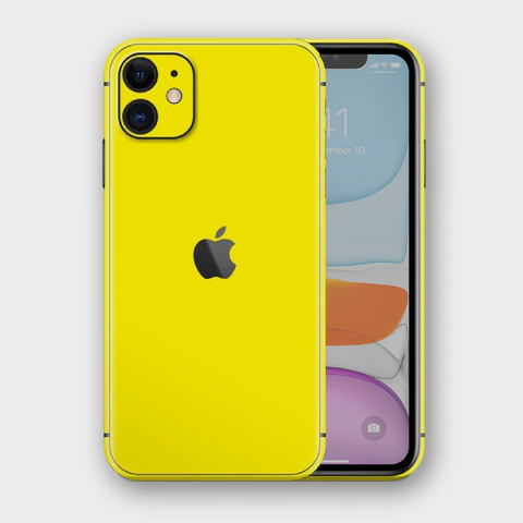 iPhone 11 - Gloss Lemon Yellow Skin
