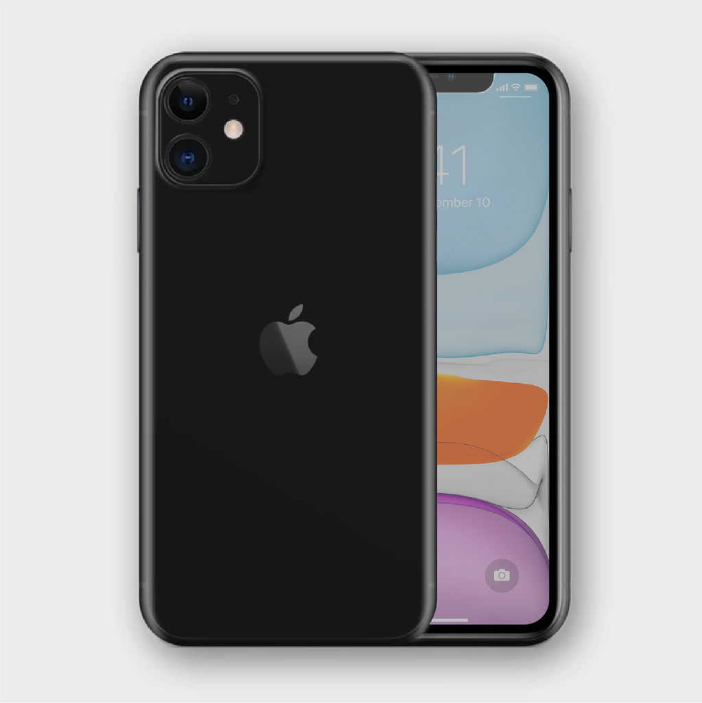 iPhone 11 - Matt Black Skin