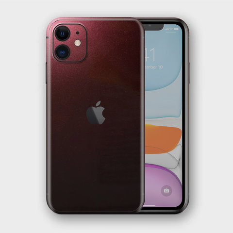 iPhone 11 - Gloss Black Rose Metallic Skin