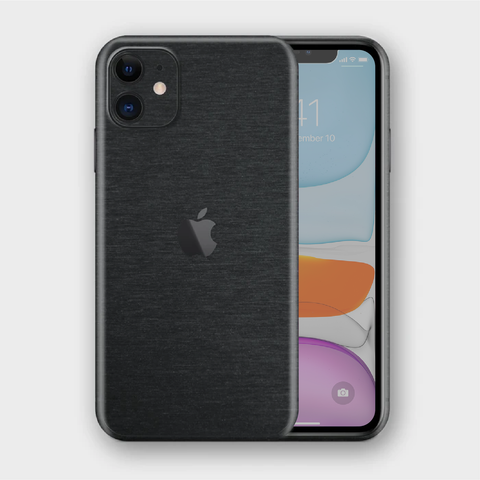 iPhone 11 - Brushed Black Metallic Skin