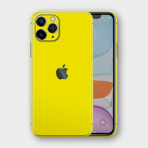 iPhone 11 Pro Max - Gloss Lemon Yellow Skin