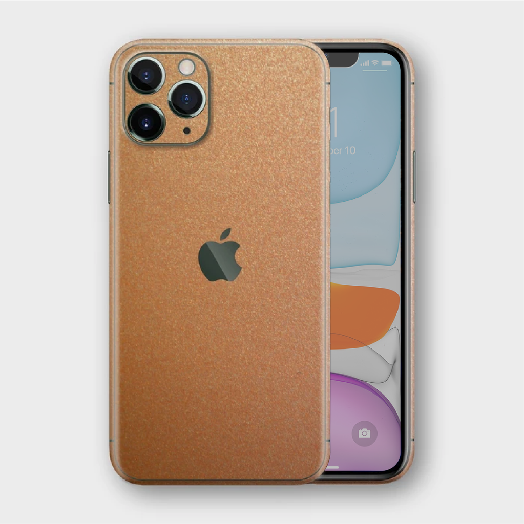 iPhone 11 Pro - Matt Copper Metallic Skin