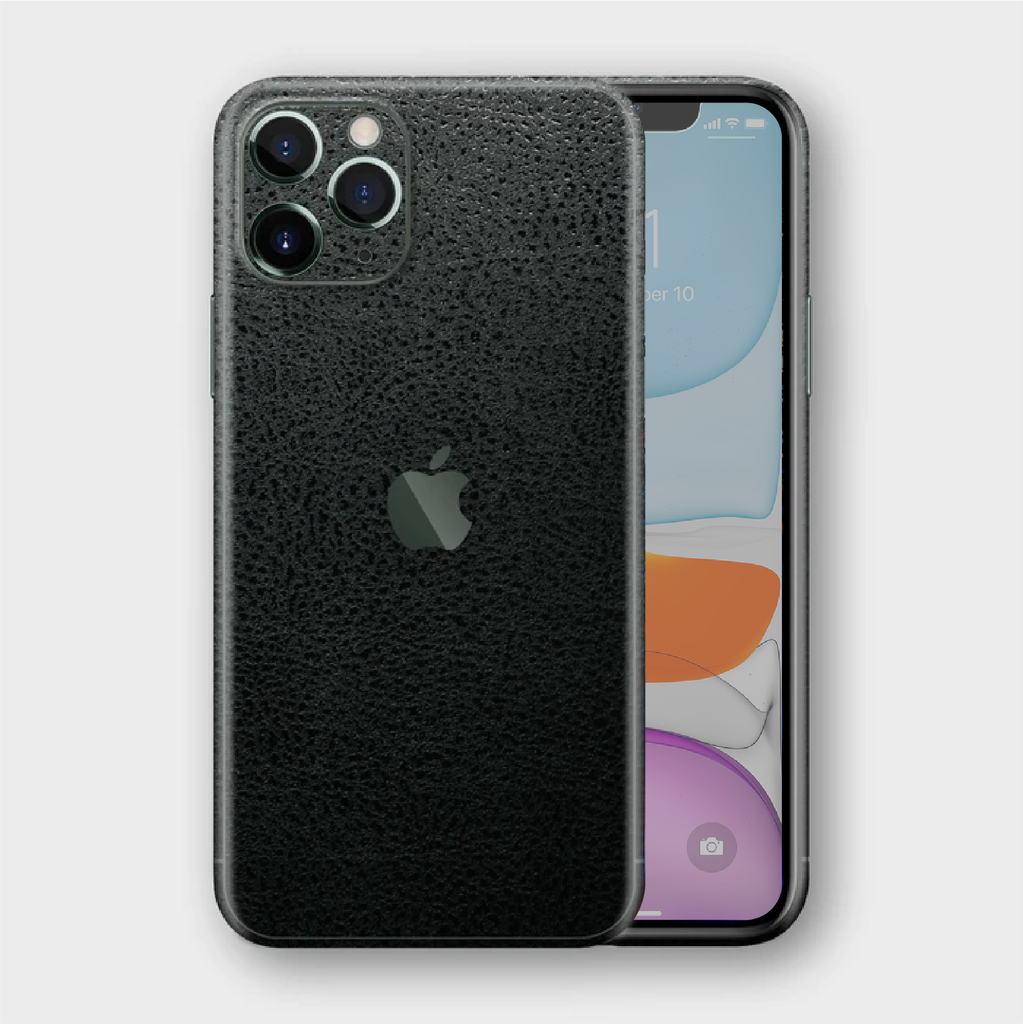 iPhone 11 Pro - Textured Crocodile Black Skin