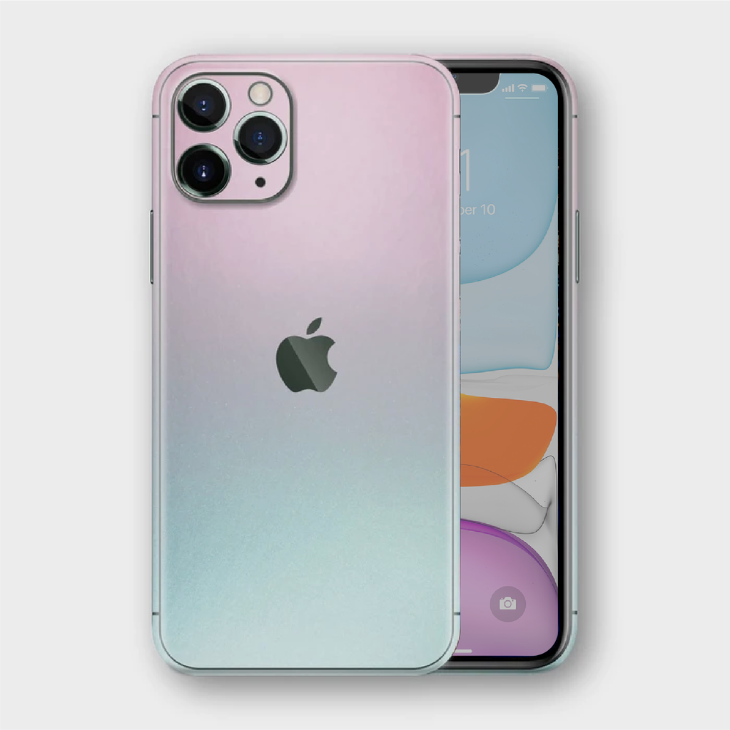 iPhone 11 Pro - Gloss Ghost Pearl Metallic (Chameleon Colourflow) Skin