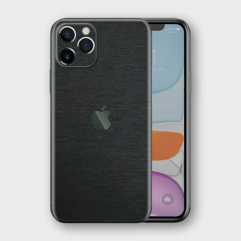iPhone 11 Pro - Brushed Black Metallic Skin