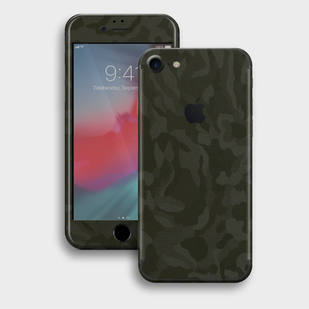 iPhone 8 - Textured Military Green Camo Skin