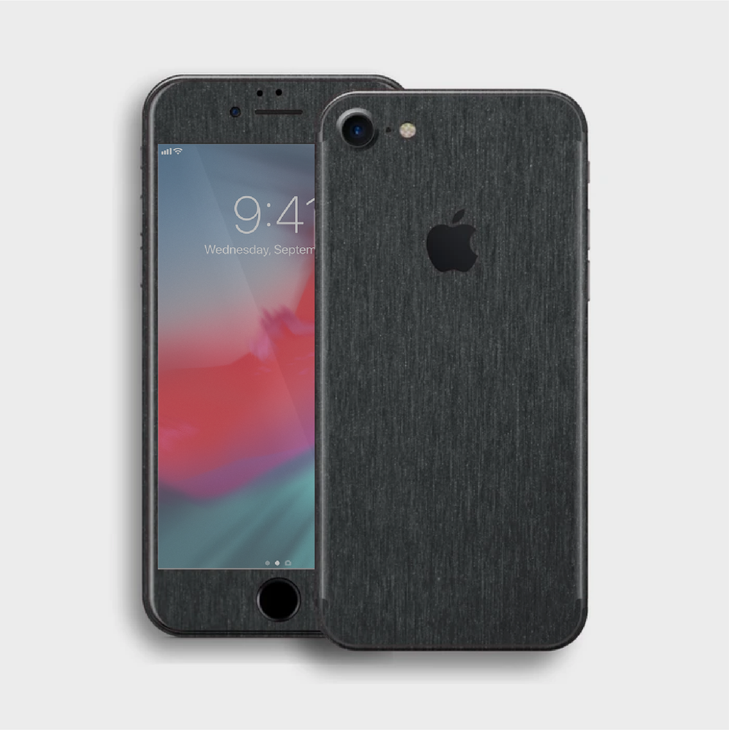 iPhone 8 - Brushed Black Metallic Skin