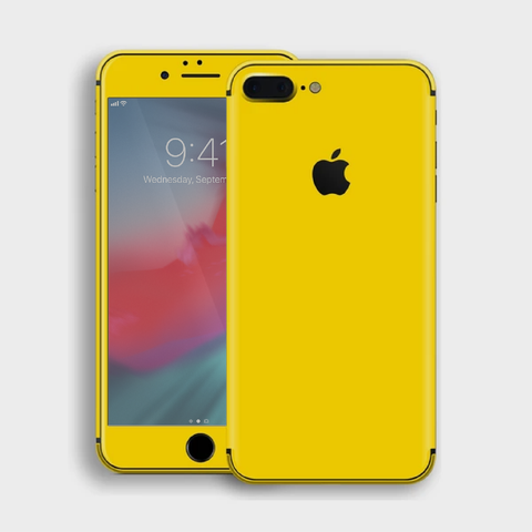 iPhone 8 Plus - Gloss Lemon Yellow Skin