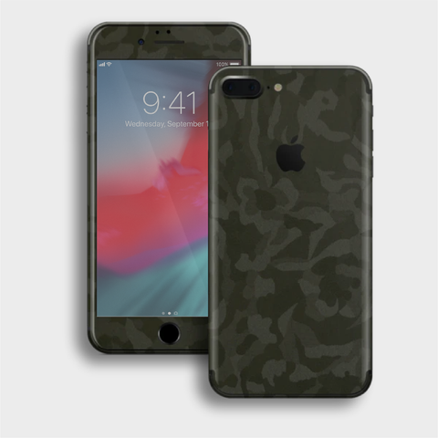 iPhone 8 Plus - Textured Military Green Camo Skin