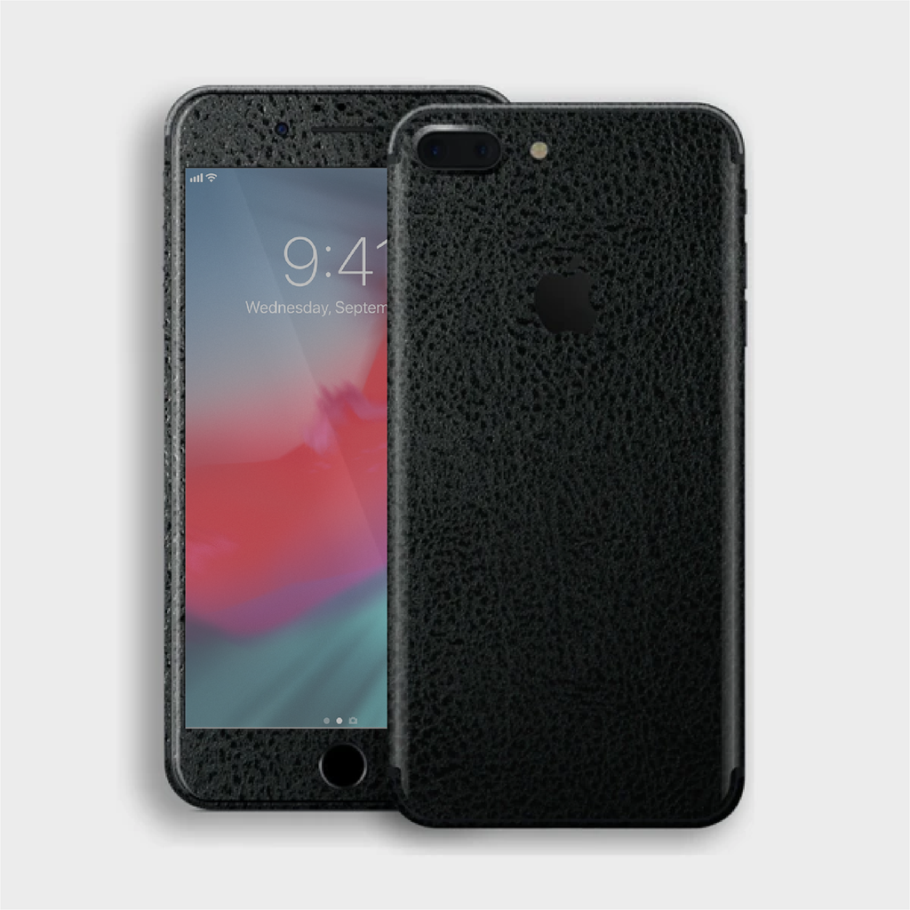 iPhone 8 Plus - Textured Crocodile Black Skin