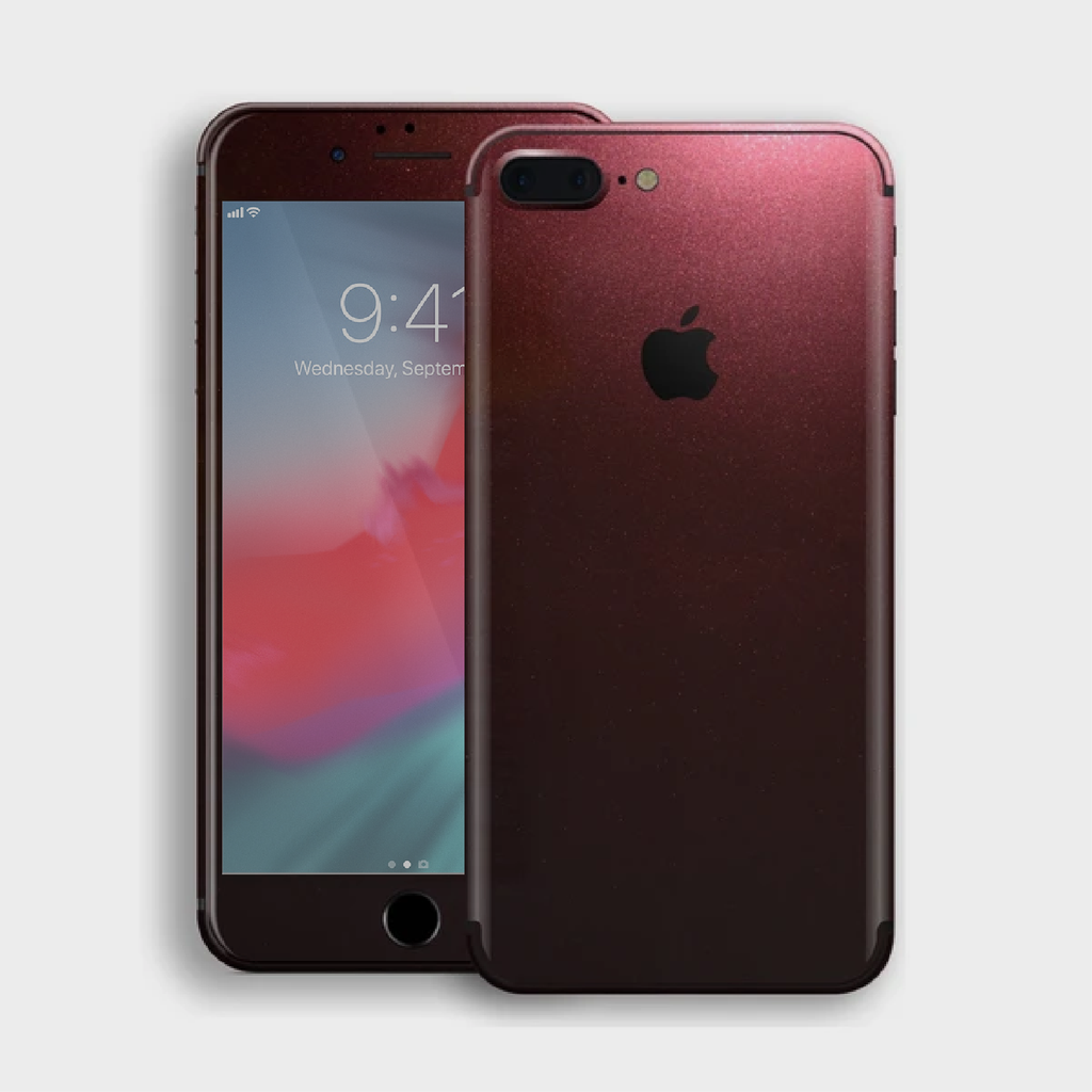 iPhone 8 Plus - Gloss Black Rose Metallic Skin