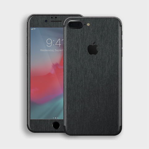 iPhone 8 Plus - Brushed Black Metallic Skin