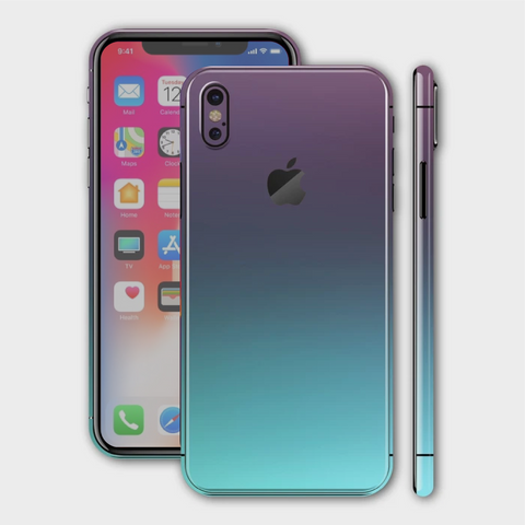 iPhone XS - Matt Turquoise Teal Metallic (Chameleon Colourflow) Skin