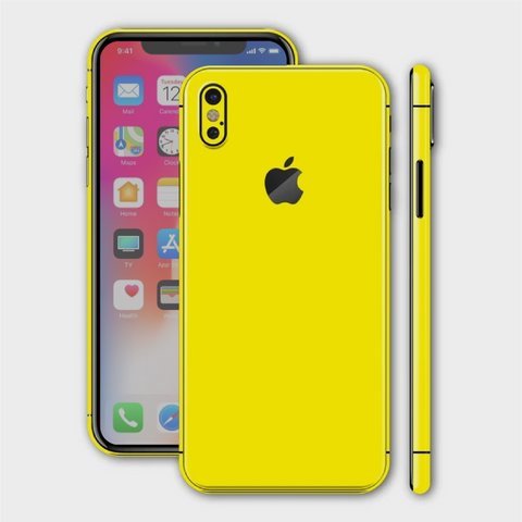 iPhone X - Gloss Lemon Yellow Skin