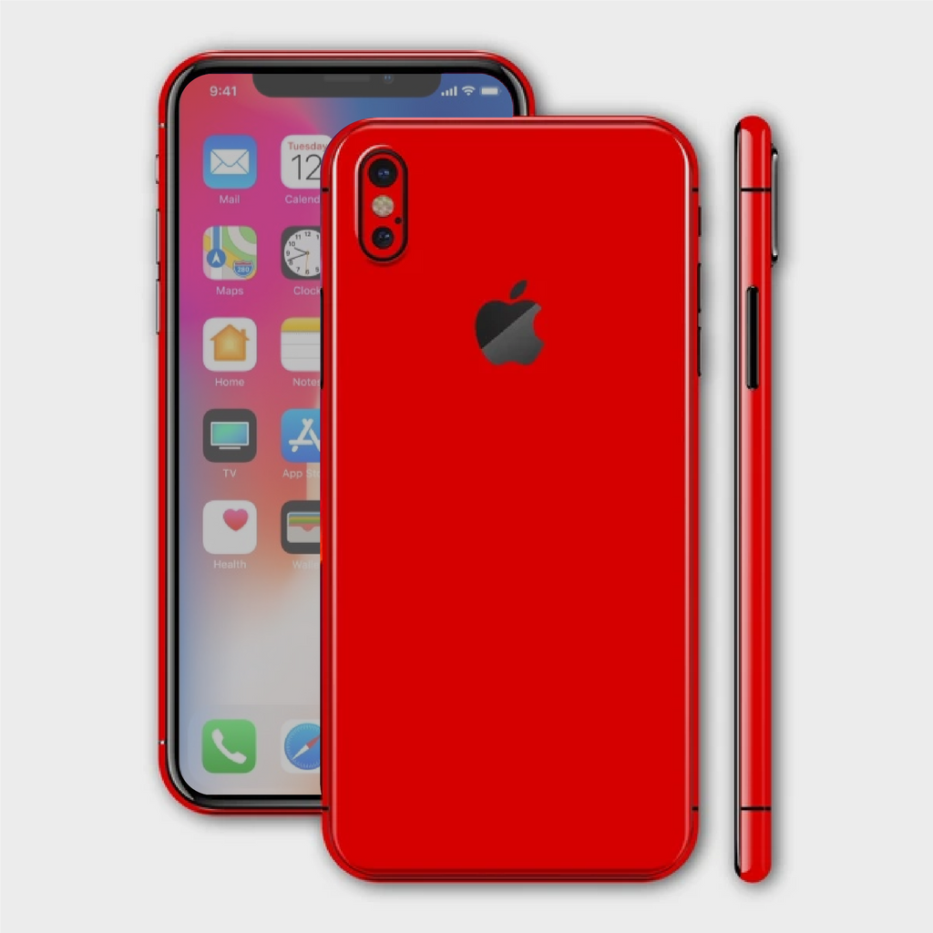 iPhone XS - Matt HotRod Red Skin