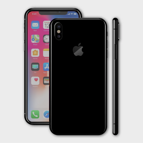 iPhone XS - Matt Black Skin