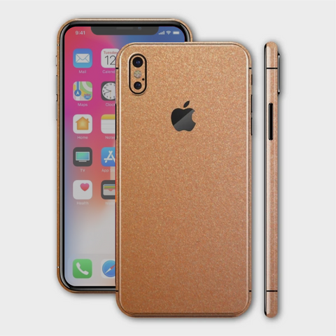 iPhone XS - Matt Copper Metallic Skin