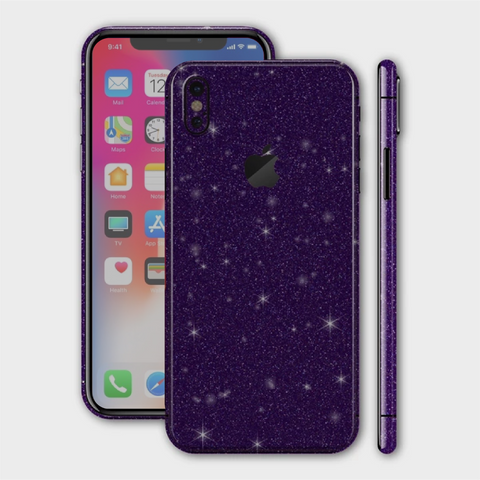 iPhone XS - Gloss Diamond Dark Purple Skin