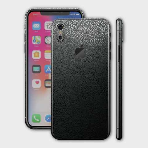 iPhone XS - Textured Crocodile Black Skin