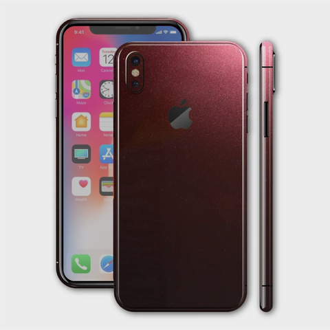 iPhone X - Gloss Black Rose Metallic Skin