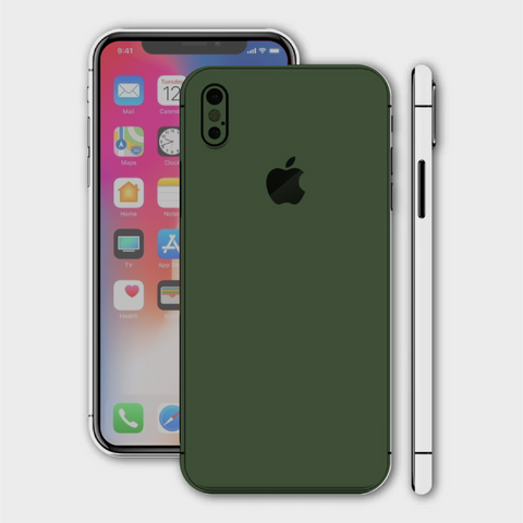 iPhone XS - Matt Military Green Skin