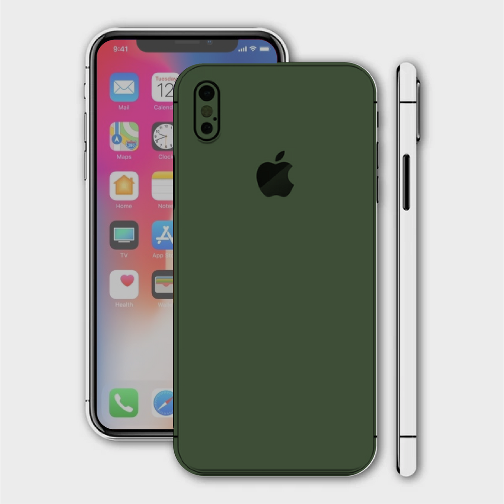 iPhone XS Max - Matt Military Green Skin