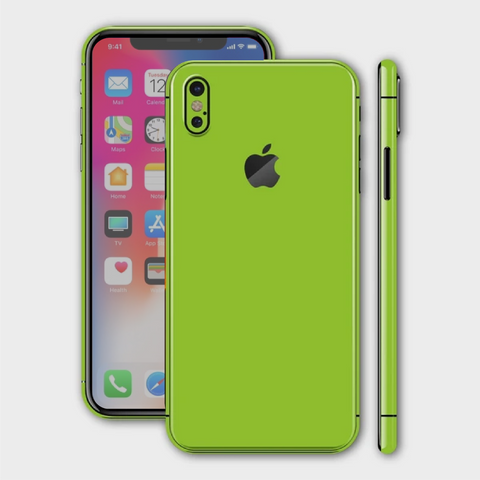 iPhone XS - Matt Apple Green Skin