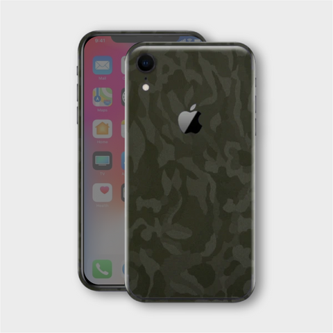 iPhone XR - Textured Military Green Camo Skin