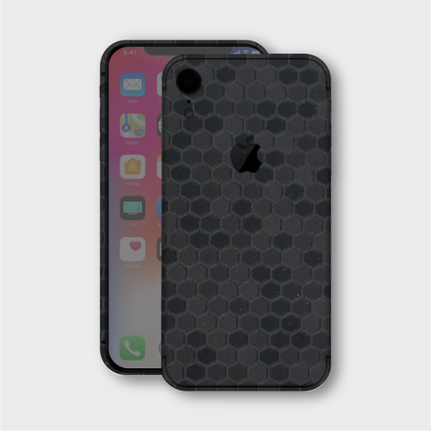 iPhone XR - Textured Black Honeycomb Skin