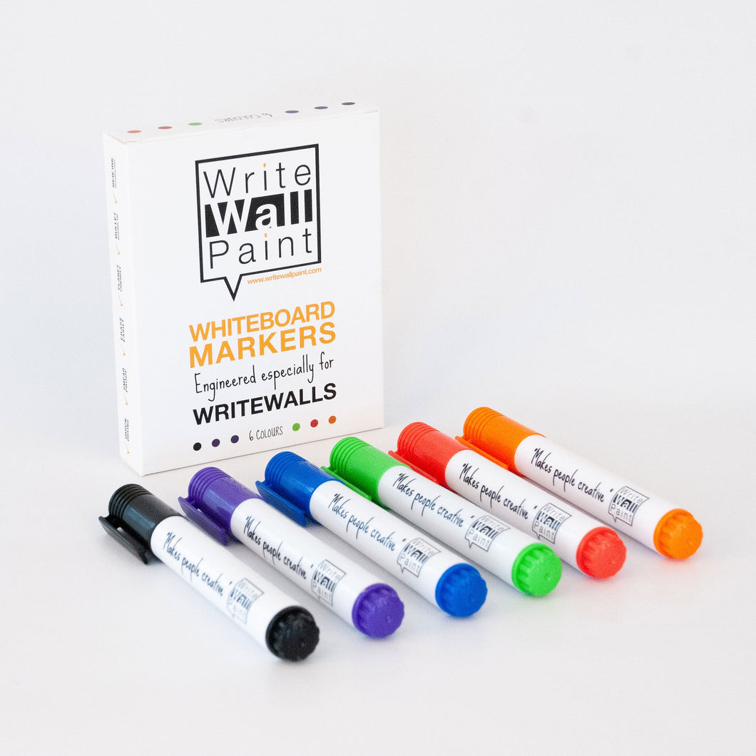 WriteWallPaint markers 6 colours