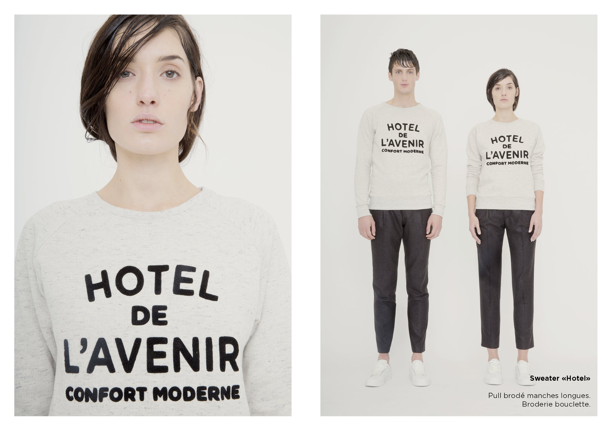 Sweater Hotel de l'avenir AW15 broderie bouclette No Youth Control