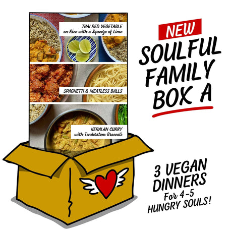 Soulful Family Box A: Three Easy Meals, each serving 4-5 Hungry Souls!