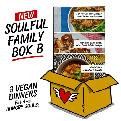 Soulful Family Box B: Three Easy Meals, each serving 4-5 Hungry Souls!