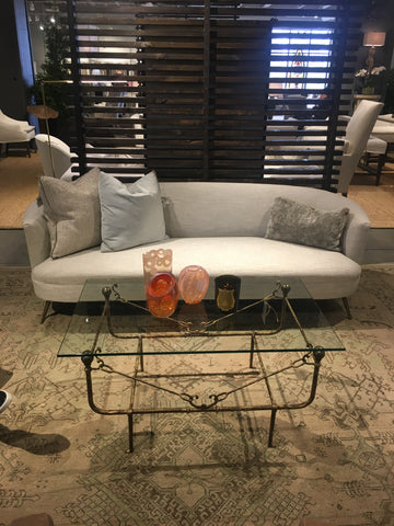 sofa-coffee table-lee industries-metal-glass-upholstery