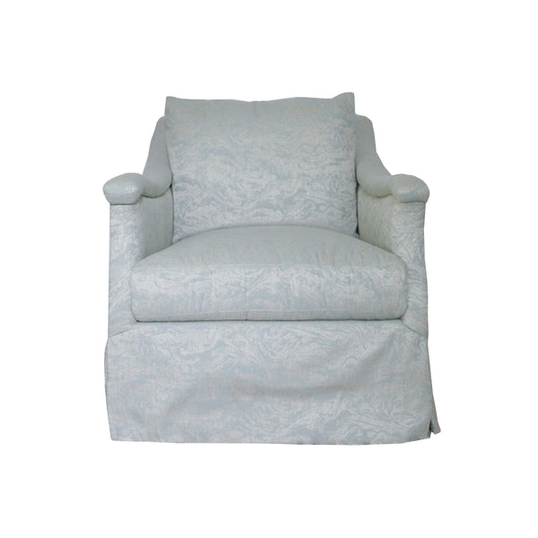 Eloise Swivel Chair in sky blue