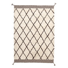 Kenzi wool rug crosshatch pattern