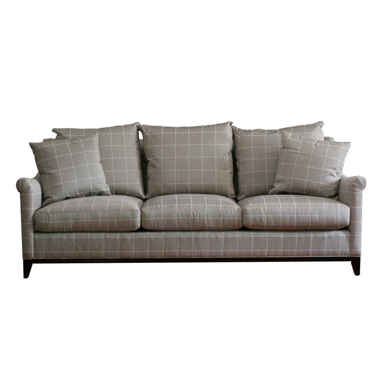 Jules Sofa with check fabric