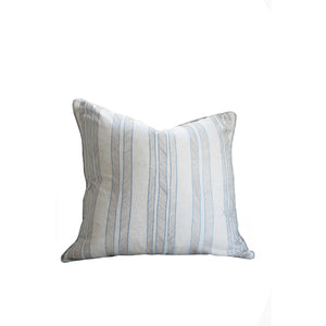 Hawthorne House Bespoke 22 x 22 Kravet Embroidered Beach Stripe Pillow