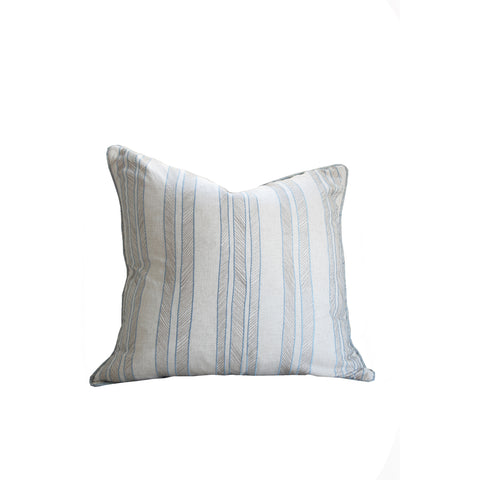 Hawthorne House Bespoke 22 x 22 Embroidered Beach Stripe Pillow