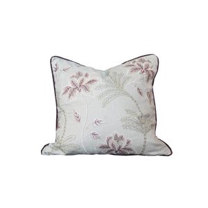 Hawthorne House Bespoke 22 x 22 Floral Embroidered Pillow