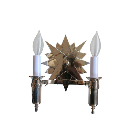 Miguel Double Sconce in Polished Nickel