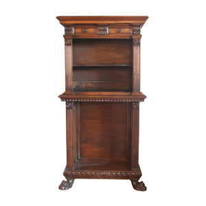 Italian walnut carved cabinet
