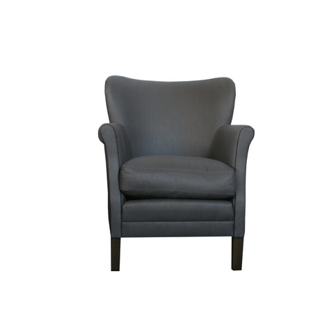 The Anna Occasional Chair by Lee Industries in navy polished cotton
