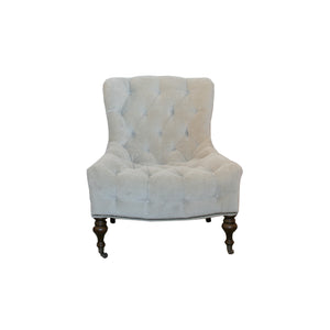 The Camilla Tufted Chair by Lee Industries in neutral velvet
