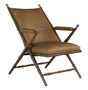 The Camp chair in brown leather