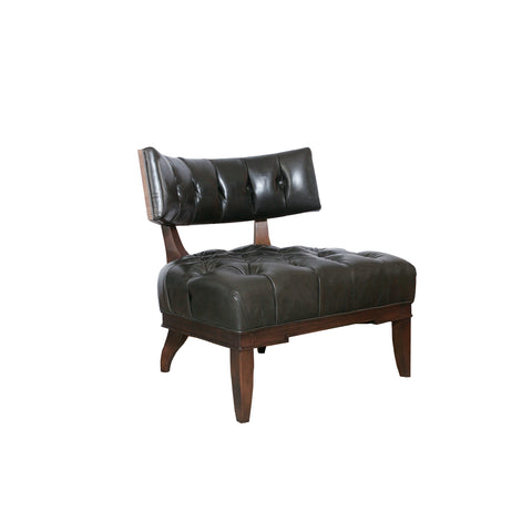 he Carlyle Chair by David Phoenix for Hickory Chair in chocolate leather