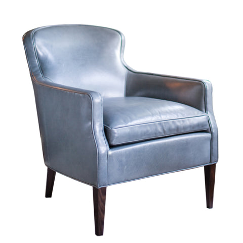 Elkin Chair in Blue Leather